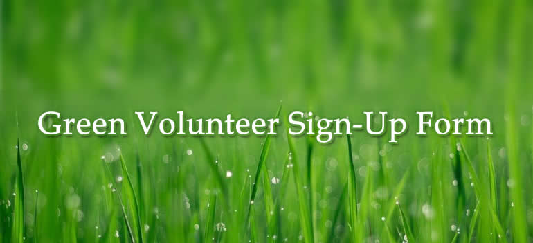 Green Volunteer Sign-Up Form