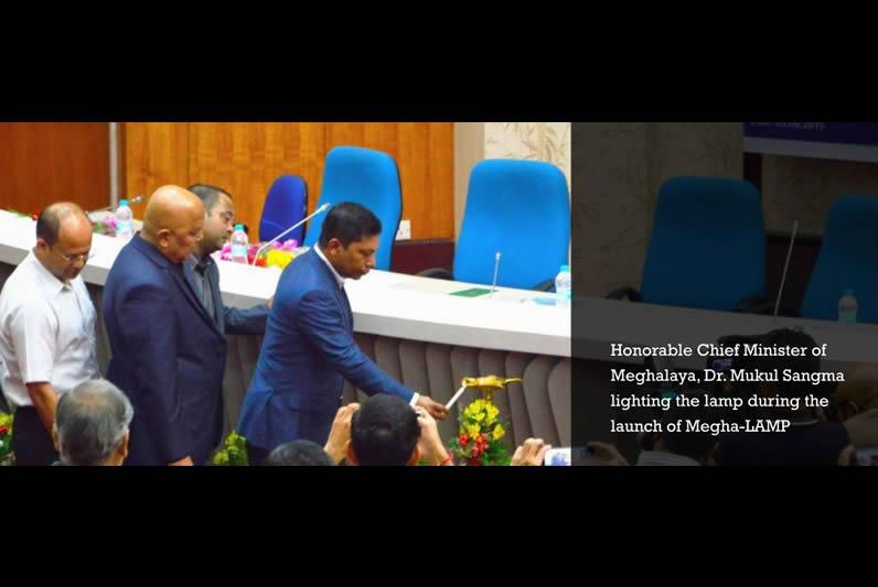 Chief minister of Meghalaya Dr. Mukul Sangma lighting the lamp