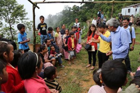 Community dialogue at Mawkaphan village, Mawsynram
