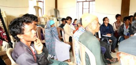 Community dialogue at Moosakhia village, Amlarem